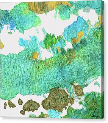 Green Earthy Abstract - Earth Dance - Sharon Cummings Canvas Print by Sharon Cummings