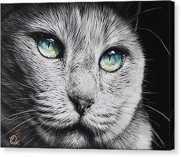 Canvas Print - Green-eyed Diva by Elena Kolotusha