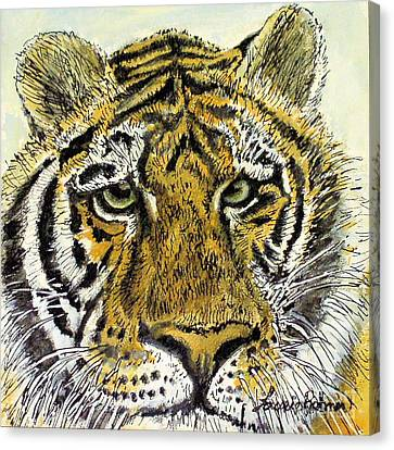 Green Eyed Tiger Canvas Print