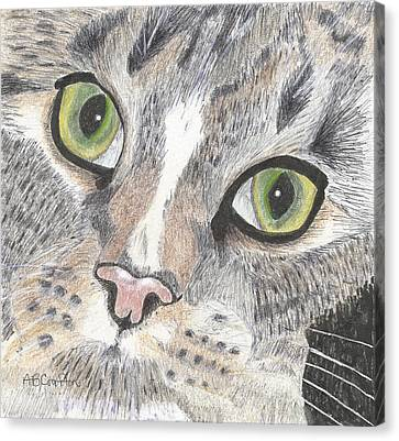 Green Eyes Canvas Print by Arlene Crafton