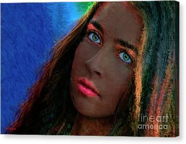 Green Eyes Canvas Print by Blake Richards