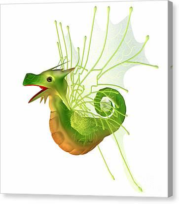 Green Faerie Dragon Canvas Print