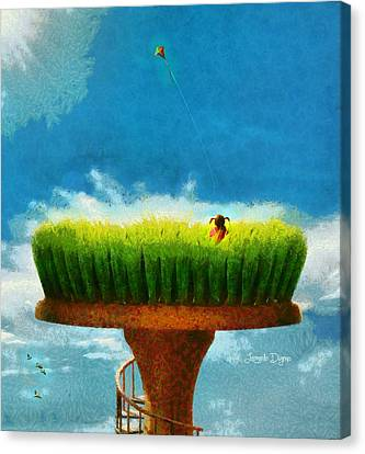 Green Field - Da Canvas Print by Leonardo Digenio