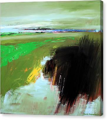 Green Field Canvas Print by Mario Zampedroni