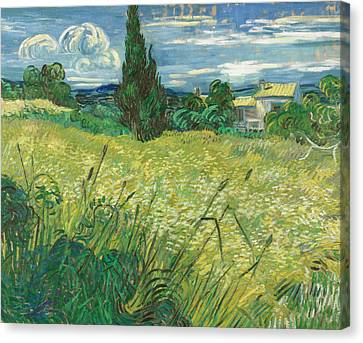 Dutch Landscapes Canvas Print - Green Field by Vincent van Gogh