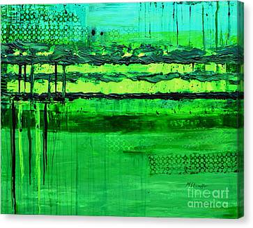 Green Flow Canvas Print by Mariana Stauffer
