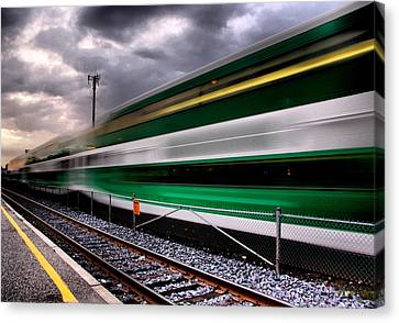Green For 'go'...  Canvas Print by Russell Styles