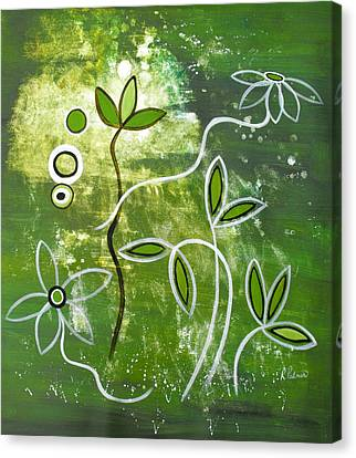 Green Growth Canvas Print by Ruth Palmer