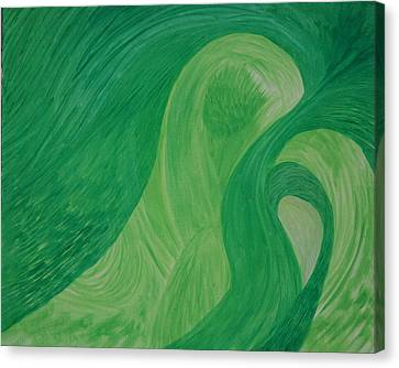 Green Harmony Canvas Print by Prakash Bal Joshi