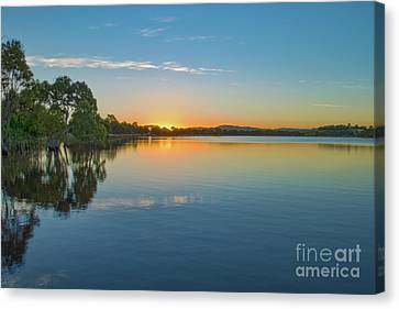 Green Hill Lake Canvas Print