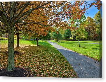 Canvas Print featuring the photograph Green Hill Park And Recreation by Juergen Roth