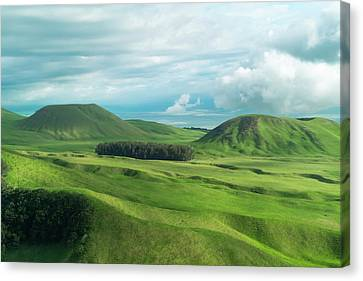 Green Hills On The Big Island Of Hawaii Canvas Print by Larry Marshall