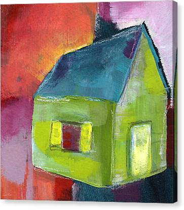 Green House- Art By Linda Woods Canvas Print by Linda Woods