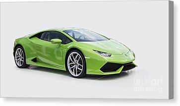 Green Huracan Canvas Print by Roger Lighterness