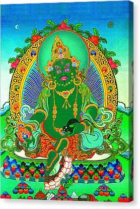 Green Jambhala  1 Canvas Print by Lanjee Chee
