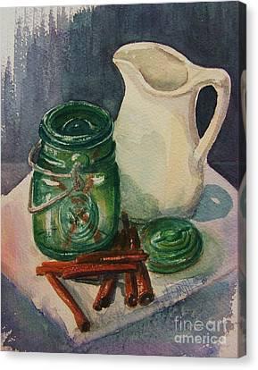 Green Jar Canvas Print