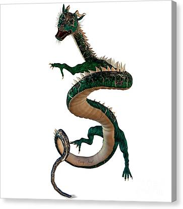 Green Jewel Dragon Canvas Print