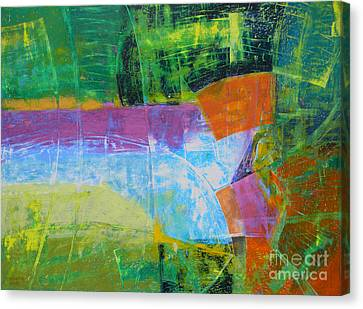 Green Landscape Canvas Print by Adel Nemeth