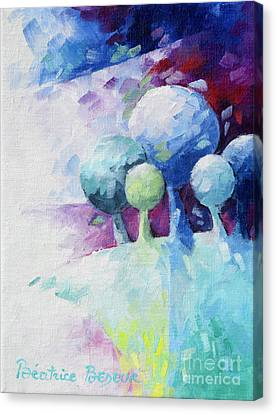 Inspirational. Pointillism Canvas Print - Green Landscape by Beatrice BEDEUR