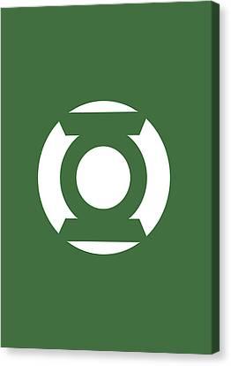 Green Lantern Canvas Print by Caio Caldas