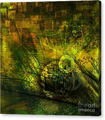 Green Lantern Canvas Print by Monroe Snook