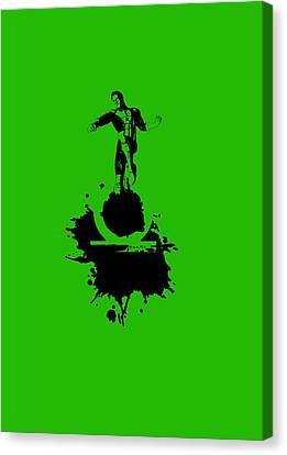 Green Lantern Canvas Print by Nikhil Regmi