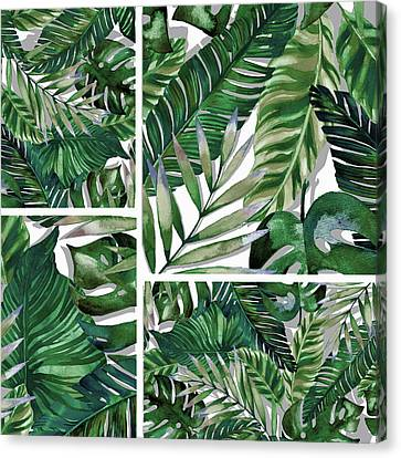 Red Leaf Canvas Print - Green Life by Mark Ashkenazi