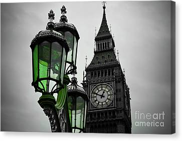 Green Light For Big Ben Canvas Print by Donald Davis
