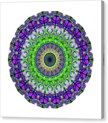 Green Light Mandala Art By Sharon Cummings Canvas Print