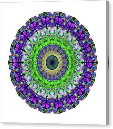 Energy Mandalas Canvas Print - Green Light Mandala Art By Sharon Cummings by Sharon Cummings