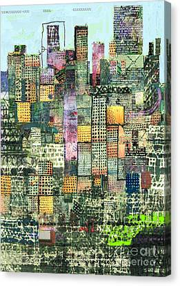 Green Metropolis  Canvas Print by Andy  Mercer