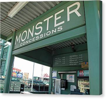 Green Monster Concession Stand Canvas Print by Barbara McDevitt