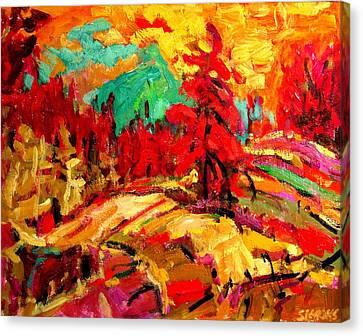 Green Mountain Canvas Print by Brian Simons