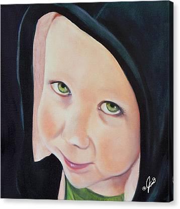 Green Munchkin Canvas Print by Joni McPherson