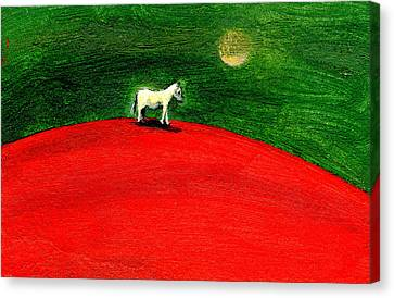 Green Night Canvas Print by Gigi Sudbury