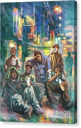 Green Ova Canvas Print by Tuan HollaBack