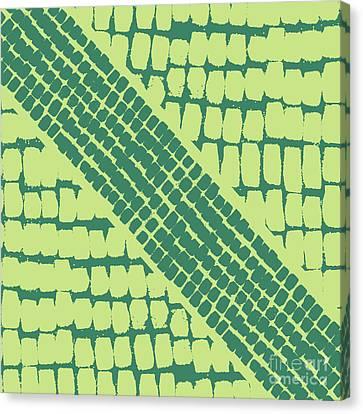 Green Painterly Pattern Canvas Print