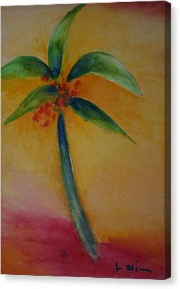 Green Palm Canvas Print by Karin Eisermann