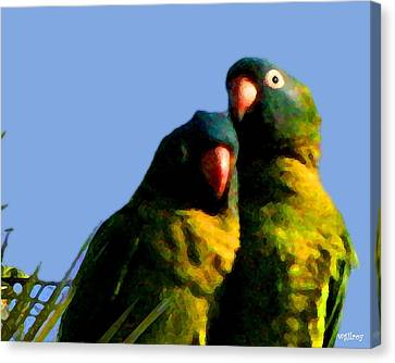 Green Parrot Canvas Print by W Gilroy