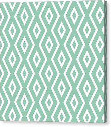 Green Pattern Canvas Print by Christina Rollo