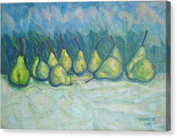 Green Pears Canvas Print