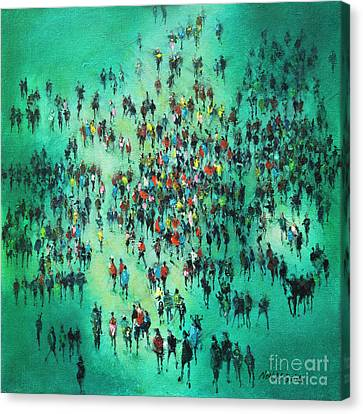 Green Piece Canvas Print