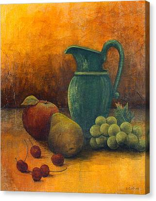 Green Pitcher Canvas Print by Sandy Clift