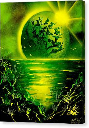 Green Planet 4669 E Canvas Print