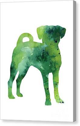 Green Puggle Giclee Print Canvas Print by Joanna Szmerdt