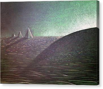 Green Pyramid B Canvas Print