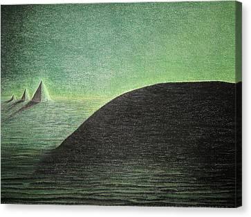 Green Pyramid W Canvas Print