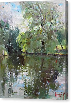 Green Reflections  Canvas Print by Ylli Haruni