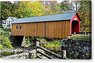 Canvas Print featuring the photograph Green River Covered Bridge - Southern Vermont by Joseph Hendrix
