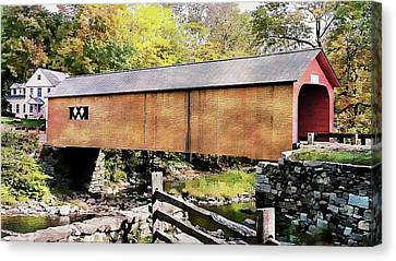 Canvas Print featuring the photograph Green River Covered Bridge - Vermont by Joseph Hendrix